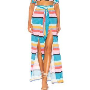 NWT Lovers+Friends Colorblock Chela Wrap Pants